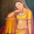 Traditional Rajasthani Oil Painting on Canvas Indian Queen woman Beauty