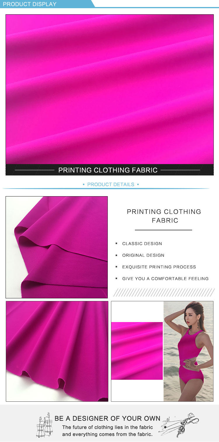 Lycra Sports Polyester Nylon Spandex Fabric Stretch Colors Customize Textile Fabric