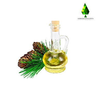 Siberian food edible pine nut oil or Siberian cedar nut oil