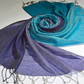 ombre wool scarf lightweight and warm