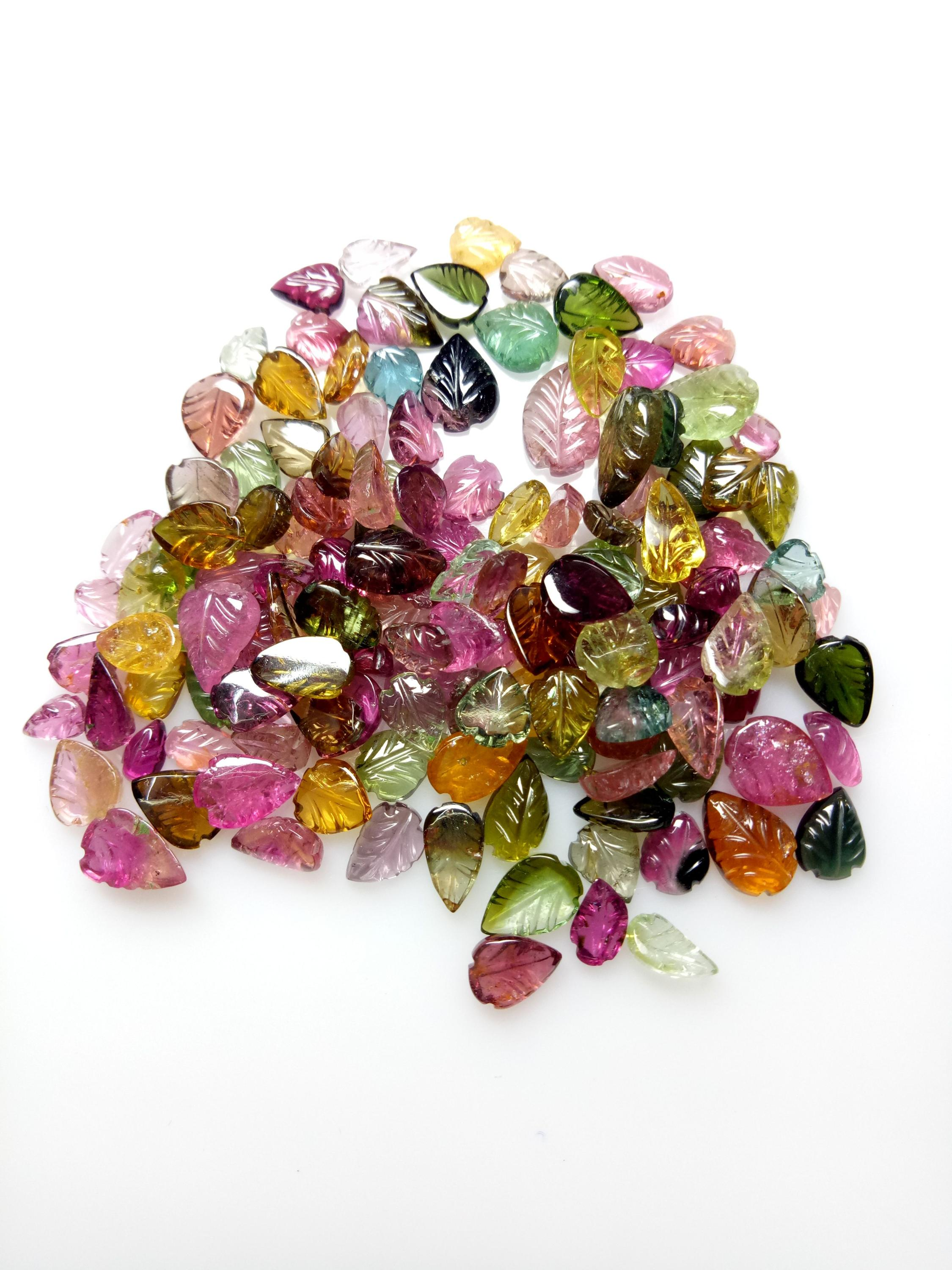 Natural multicolor leafs tourmaline lot available