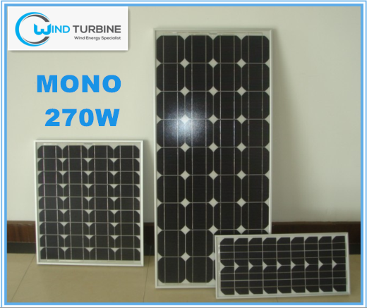 Windturbine Mono 270W solar panels warranty 25 years for home use for solar system