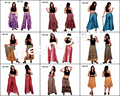 Girls Indian Boho Silk Short skirts- Designer Silk Plazoo Pants - Indian Boho colorful Trouser Pants- Women pure SILK pants