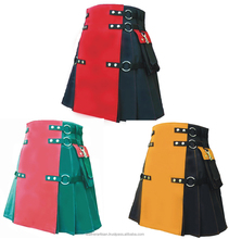Deluxe 100% pure cotton duel color combination kilt costume