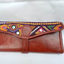 ethenic hand made real leather wallets/purse