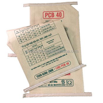 New 2018 kraft paper cement valve bag for packaging 50 kg