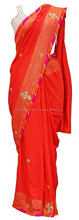 Shot Khadi Silk Gota Saree