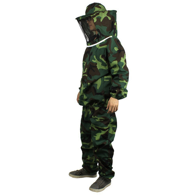 Bee Safety Clothing Jacket Pants Veil Bee Protecting Dress Camouflage Beekeeping Suit For Adult