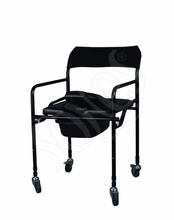 Aluminium Lightweight Folding Commode Chair Folding Toilet Chair Elderly