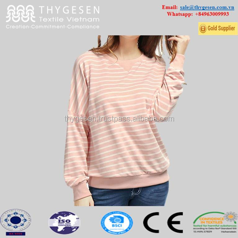 women best quality t shirt pink white stripe