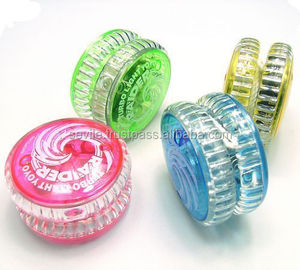 Best Selling Promotional Plastic Yoyo Toys, All Size Flashing Yoyo With Light