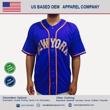 Fully Customized Team Sports Baseball Jersey