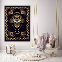 Indian handmade Ethnic Skull Tapestries Grateful dead psychedelic Tapestry Wall hanging Indian Mandala Wall Hanging Poster