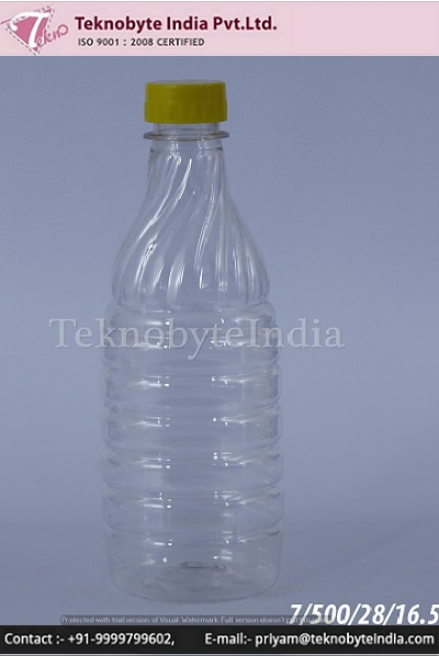 Plastic bottle 500 ML for OIL/FLOOR CLEANER & multipurpose uses made from 100% virgin pet preform