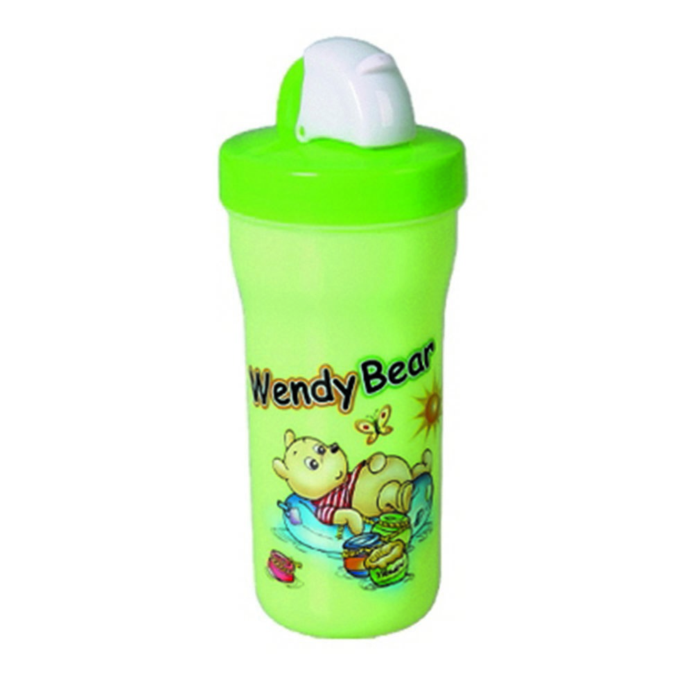 Plastic cup with straw for drinking water food safe and suitable for kids