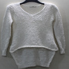 2018 young lady Stylish pullover with fancy knitted sweater