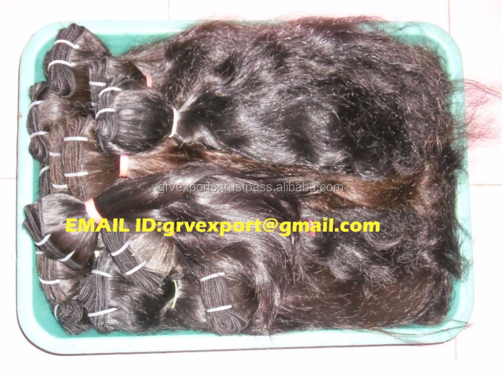 Hot selling factory price unprocessed no shedding no tangle virgin hair weaving machine weft human hair exporters