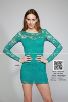 Mini cocktail Lace Dress for Women made in Thailand