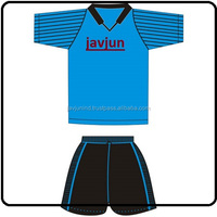 Blue And Black Sublimated Team Football Soccer Uniform/Sportswear Soccer Set