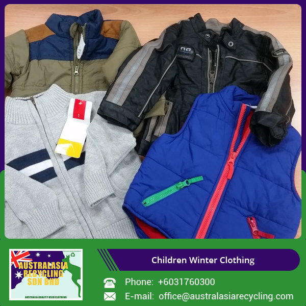 Best Condition Used Children Winter Clothes for USA