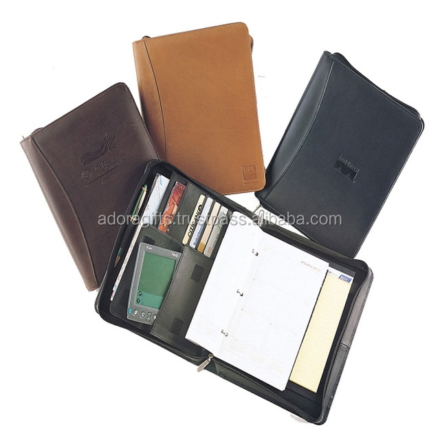 Wholesale Popular Leather A5 Notebook with Calculator/Agenda Organizer with calculator Photo Frame