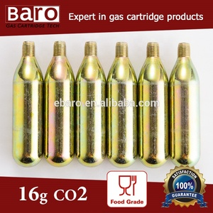 16 gram 3/8 threaded CO2 Cartridge for co2 bike pump