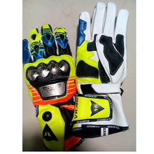 Rossi VR46 Motorbike Leather racing gloves,top Quality Leather Racing Gloves for riders