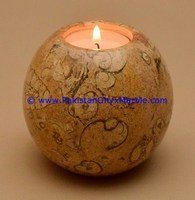 EXPORT QUALITY MARBLE CANDLE HOLDERS SPHERE BALL SHAPED STANDS