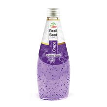 290ml Grape flavour Basil seed Drink in glass bottle Beverage supplier