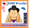 Paper Hanging SUMO Air freshener for automobiles with various scents