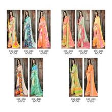 LT Blush Chiffon Fabric Ready To Wear Dailywear printed Sari Saree For Indian Women