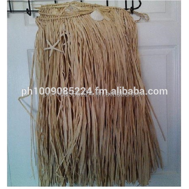 Natural Raffia Hula and Table Skirts with Shell