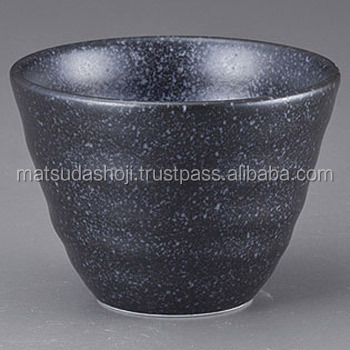 Black sake cup of pottery, Japanese high quality products , small lot order available