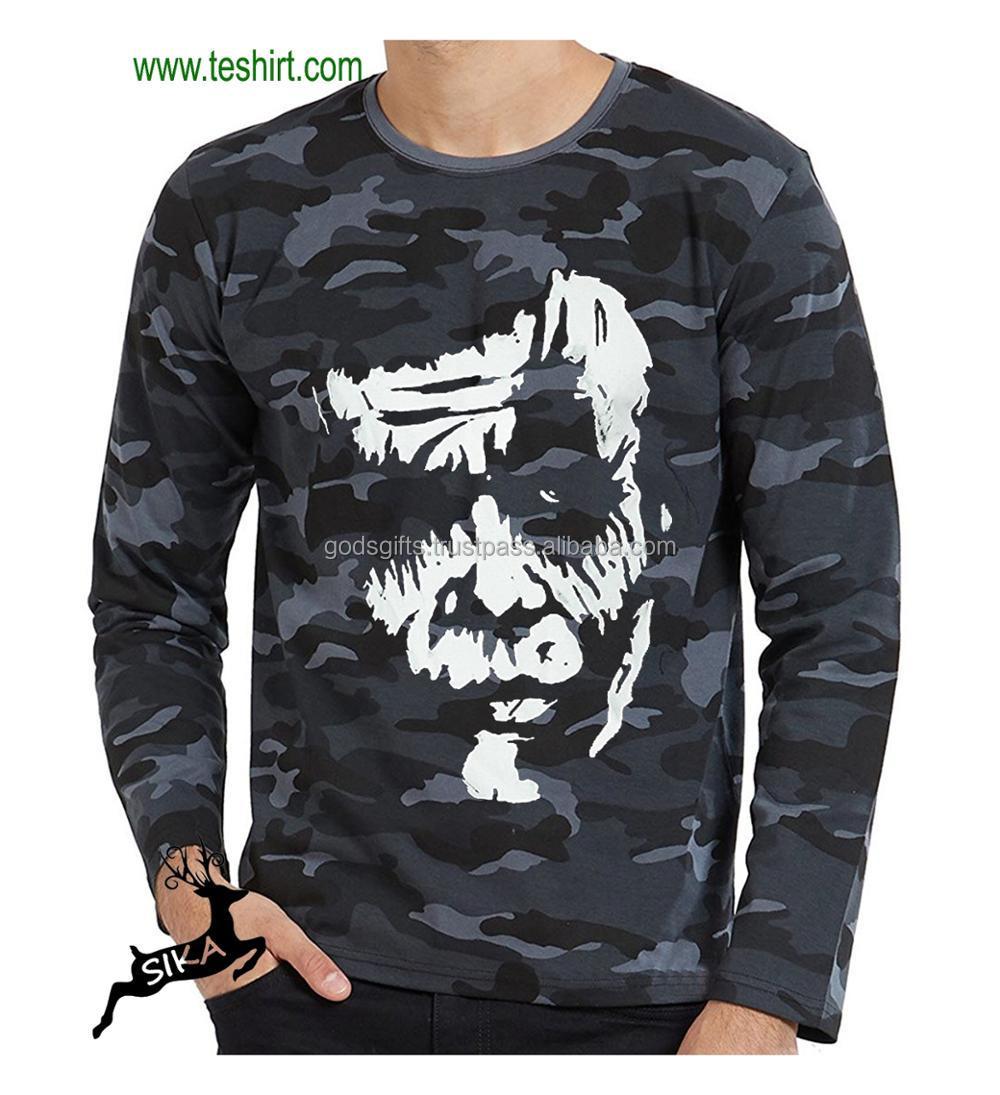 6cc4b185 polycotton camouflage army print t-shirt Men's direct manufacturer tirupur