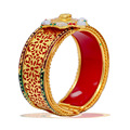 Kundan Polki Studded Red Color Free Size Bracelet