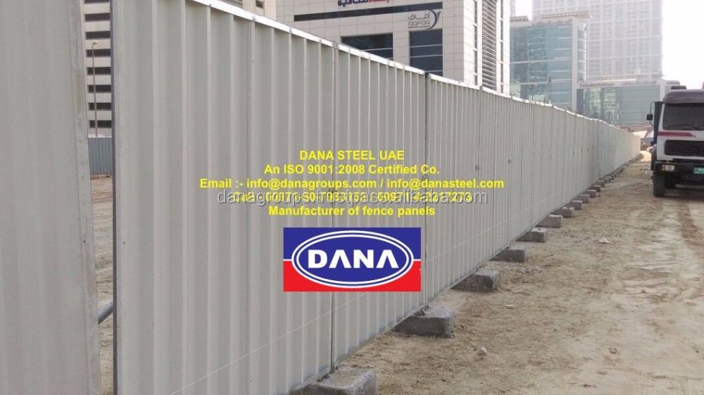 Metal Hoarding Temporary Fencing Panel - 971507983153-Supplier in Dubai