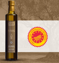 Faris Kalamata , Greece PDO - Greek Extra Virgin Olive Oil - 500ml Marasca / Dorica Glass Bottle