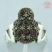 Frog Design Multi stone Ring Jewelry, 925 Sterling Silver Ring Jewelry, Wholesaler Silver Ring Supplier