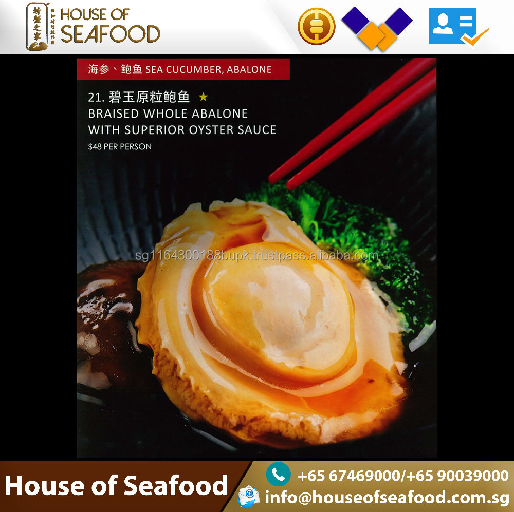 Best selling Seafood Ready to Eat Braised Whole Abalone with superior oyster sauce
