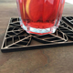 MDF Leaf Design Laser cut Cheap Coasters | Custom Design Wood Coasters