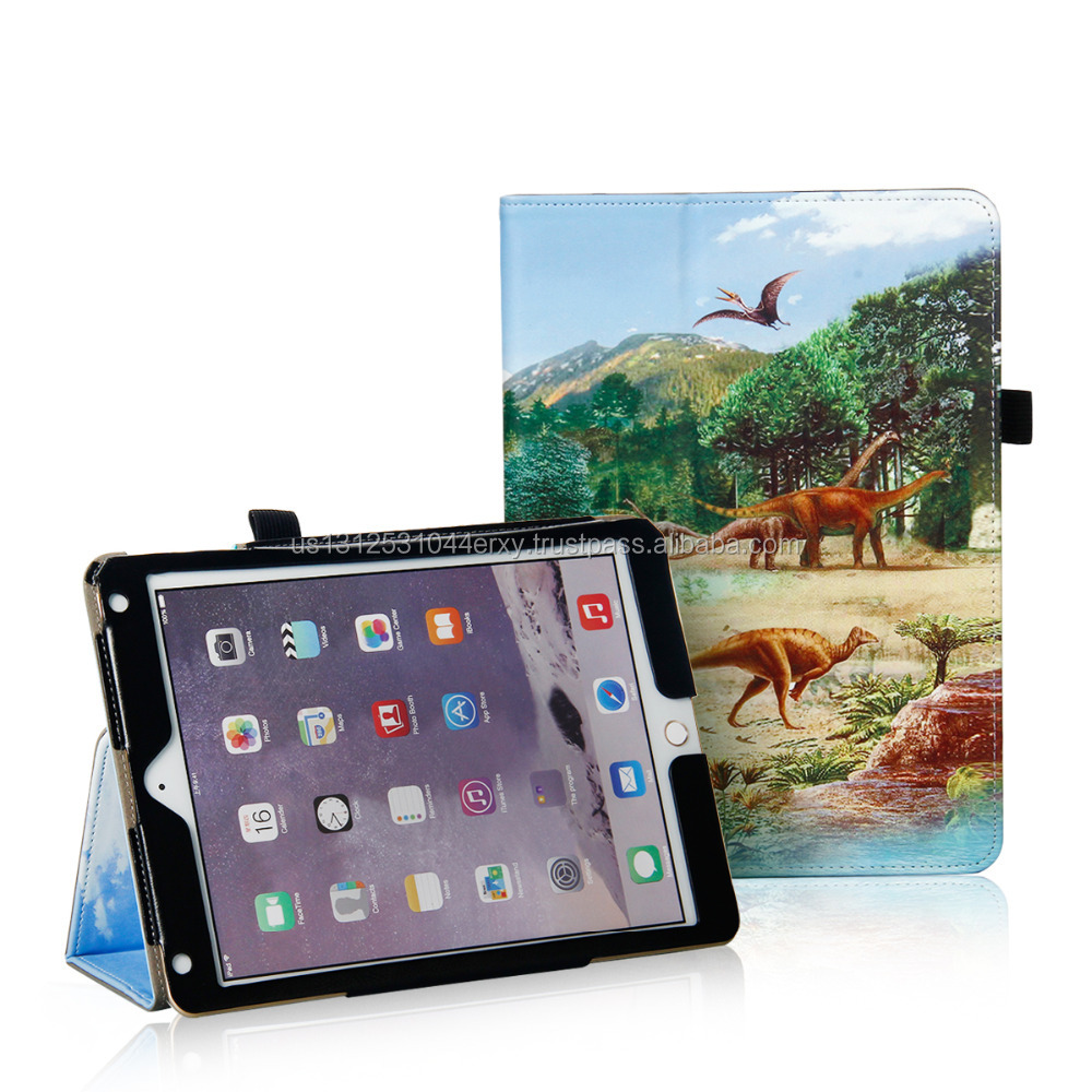 "US Supplier Dinosaur Tablet Leather Case Cover For 2017 iPad 9.7"" Air"