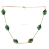 925 sterling silver green onyx necklace wholesale india gemstone necklace