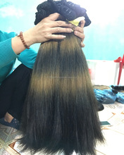 Ombre Colored Two Tone Black and Brown to #613, Peruvian Human Hair, Virgin Cuticle Aligned Hair