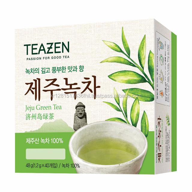 High Performance natural slim and Weight Loss 40T teazen jeju organic green tea