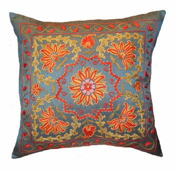 16 x 16 Suzani Cushion Cover Dorm Cotton Suzani Cushion Cover Home Decorative