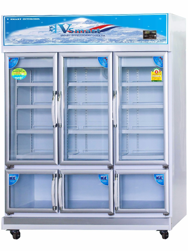 Made in Thailand 6 doors Refrigerators 3 BEVERAGE coolers and 3 FREEZERS ice