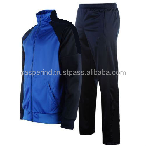 mens' high quality sports tracksuit custom running football warm up tracksuit