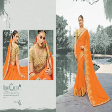 heavy hand border stone work sarees design saree designer thread zari embroidery moti