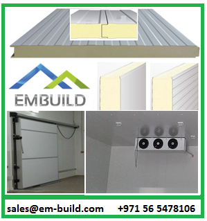 EMBUILD Dubai provides cold rooms for Fish/ Fruits/Vegetables/Meat/Ice cream/Medicines/Yeast/Dairy products + 97156 5478106 UAE
