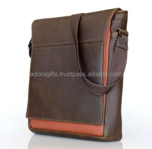 Good Quality Brown Messenger Conference Laptop Bag